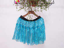 wholesale women glitter running skirts cheap turquoise sequin skirts