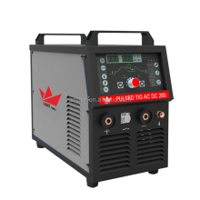 Digital smart welding thin aluminum 200amp pulse ac dc tig welder