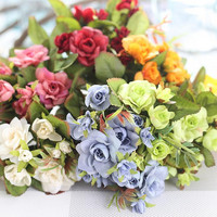 Small Rose Colorful Artificial Distributor Flower