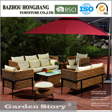 HJ-1723Garden furniture Patio hotel furniture Outdoor rattan/wicker sofa daybed set