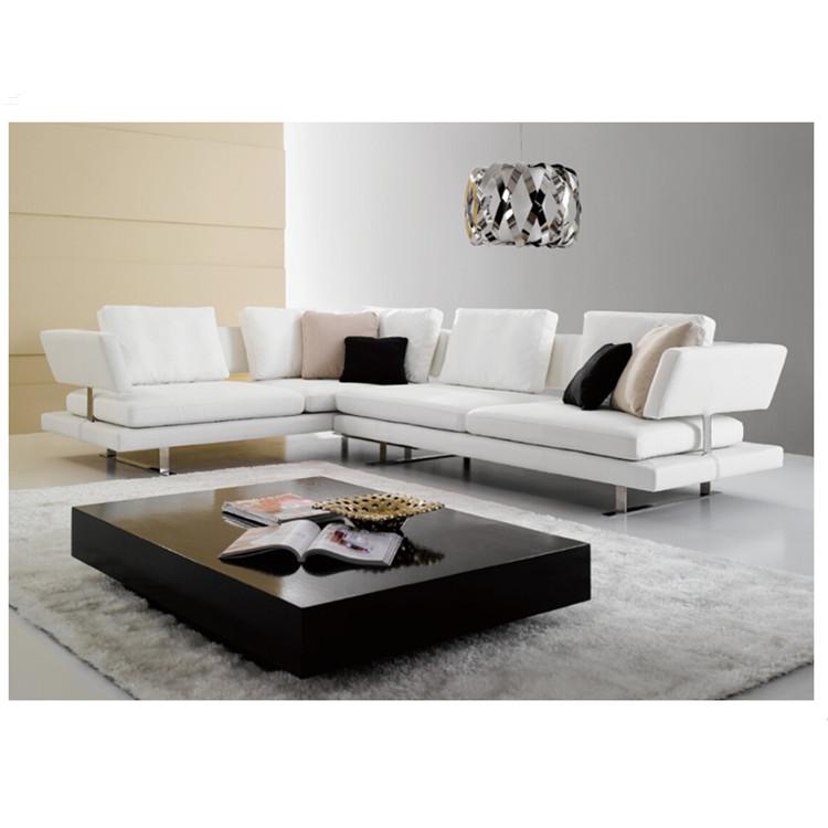 Corner Leather Sofa Set Modern Stainless Steel Sofa Set With Coffee Table -  Buy Stainless Steel Sofa Set,Leather Sofa Set Modern,Modern Corner Leather  ...