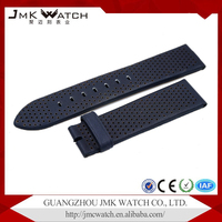 Classic pattern wholesale two colours dense hole genuine leather watchband for Armani watch