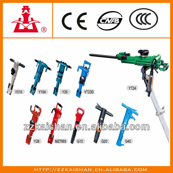 Kaishan mining air rock drill/Air Leg pneumatic Rock Drill for sale YT28/YT20/YO18
