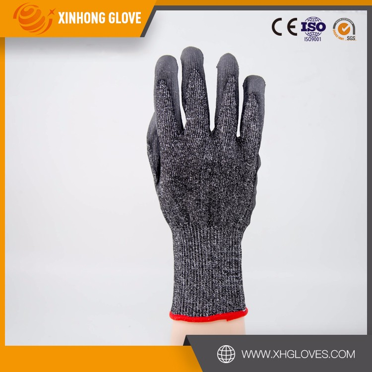 Xinhong Hi-viz green king PU gloves