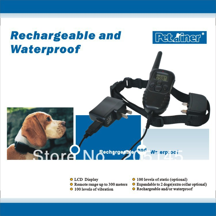 Rechargeable 300M Remote Dog Shock Anti Bark Stop Collar