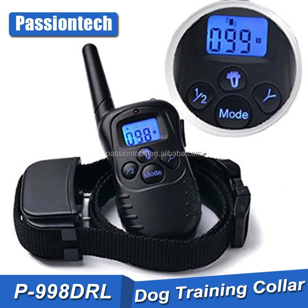 998DR Anti Bark Stop Controller No Barking Remote Electric Shock Vibration Dog Pet Training Collar