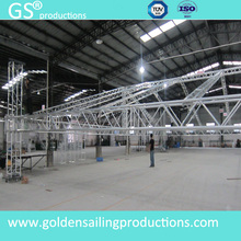 400mm aluminum spigot truss studio dj booth truss curved roof truss on sale
