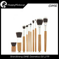 Specially wooden handle Synthetic Hair Brushes Kit, Makeup Brush 10 PCS