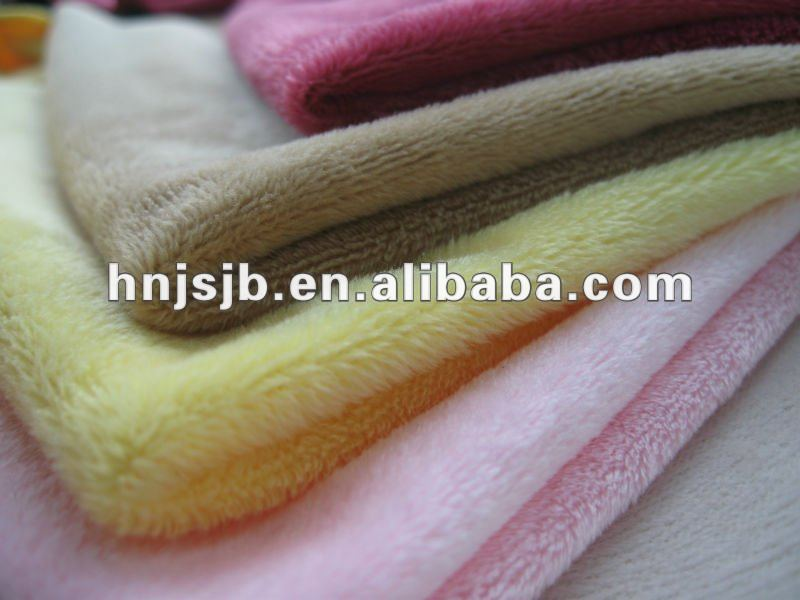 100% polyester soft velour knitted fabrics/toy fabrics