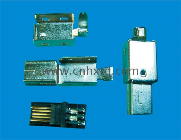 male 90 degree connector 6 pin headerconnector