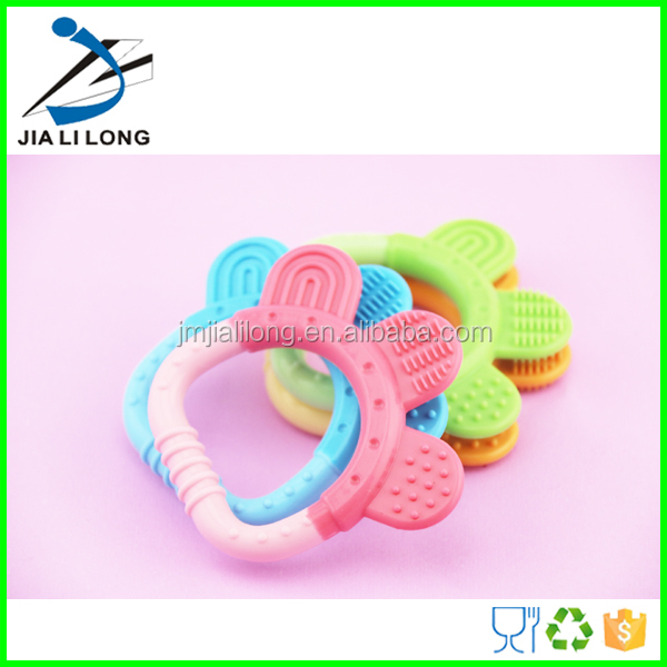 Bpa free food grade silicone baby teether teething toys
