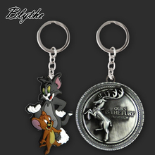 Hot sale keyring/key chain plated metal custom keychain