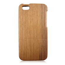 2017 Hot selling mobile phone wood accessories, black walnut wood case for iPhone 5C