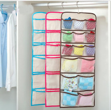 Multi 15 Pockets Clear Hanging Bag Socks Bra Underwear Storage