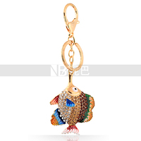 Cheap Price Colorful Fish Beautiful BagMarine Animal Key Chain for women