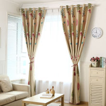 Children room curtain print finished fabric window curtain