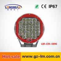 4X4 Accessories Offroad Light 96w 9inch LED driving light for Jeep truck vehicle Lighting