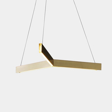 Tri Pendant lights by Resident Studio LED light source Modern three classic geometric shape Pendant lamp project light brass