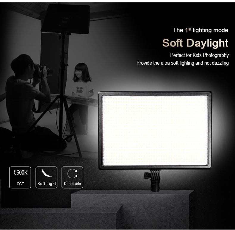 NanGuang video light Mixpad106 4 in 1 video shooting led light SMD soft LED video light for short/long distance shooting