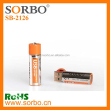 Promotional USB charge AA Li-lon Battery ( Eco-frendily Reused)
