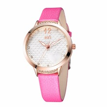 New Products vogue leather beautiful quartz women watch