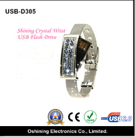 wholesale minion jewelry crystal bling USB flash drive metal flash memory2.0 usb flash drive (USB-D320)