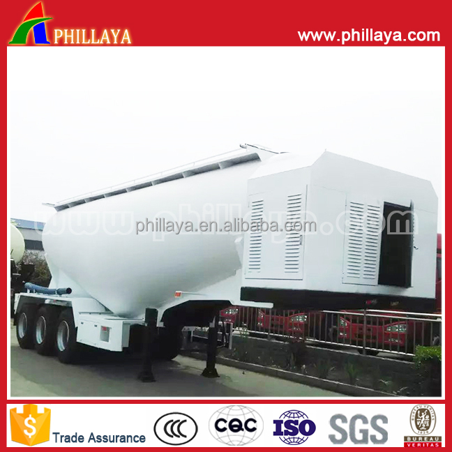 silo Dry Bulk Trailer Powder tanker Cement Semi Trailer With 25ton-40ton