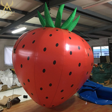 Giant Inflatable Strawberry Fruit Model For Advertising