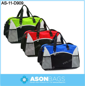 600D polyester dance duffel bag