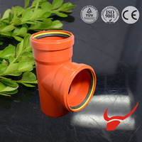 factory price white color EN1401/EN1329 pvc pipe and fittings