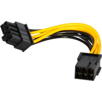 10cm PCI Express PCIe 6 Pin to 8 Pin Graphics Card Power Adapter Cable