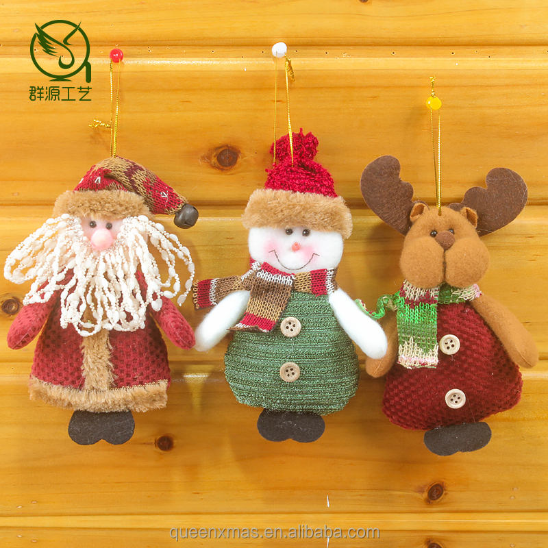 Commercial hanging Fabric Christmas tree Ornaments In Bulk