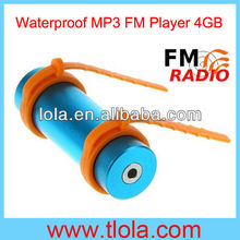 Waterproof MP3 Player for Sauna Room 8GB Memory