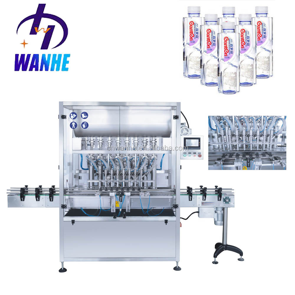 Automatic 8 head paste and liquid bottle filling machine mineral water beverages juice bottle filliing line