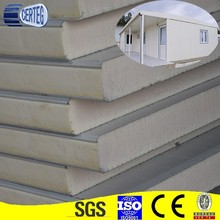 White Colorm prefab fence Colored PU Insulation Panel Steel
