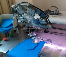 fully automatic CNC no iron patch pocket sewing machine for jean