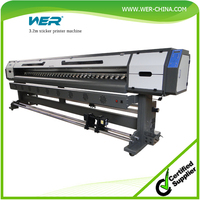 Hot selling WER-ES3202I 1440 dpi with 2 DX7 print head, 3.2m eco solvent large format printer