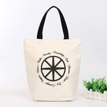 100% cotton canvas bag custom hot stamping Line Tote Shopping Trolley Canvas Hand Bag