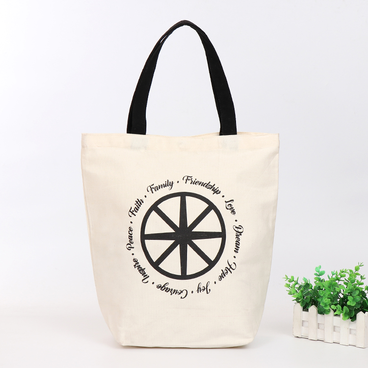hot stamping Line Tote Shopping Trolley Canvas Hand Bag
