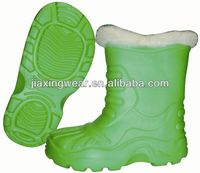 New Injection kids sequin snow boots for outdoor and promotion,light and comforatable