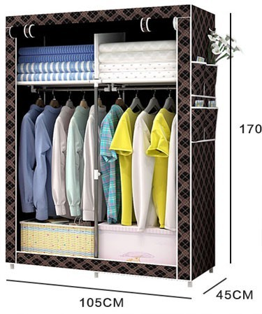 2017 new design bedroom wardrobe easy assembled