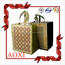 China supplier excellent quality custom printed bulk reusable jute shopping bag,hessian shopping bags wholesale