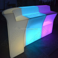 hot sale Led Light bar furniture bar counters design, led plastic bar counters