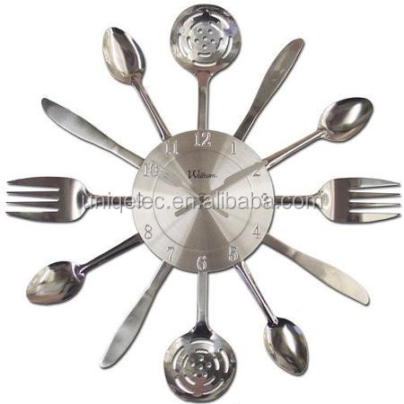 Knife and Fork Stainless Steel Wall Clock