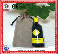 Silk-screen Printing Single Jute Shopping Wine Tote Bag Wholesale, High Quality Wine Tote Bag Wholesale,Jute Shopping Bag Wholes
