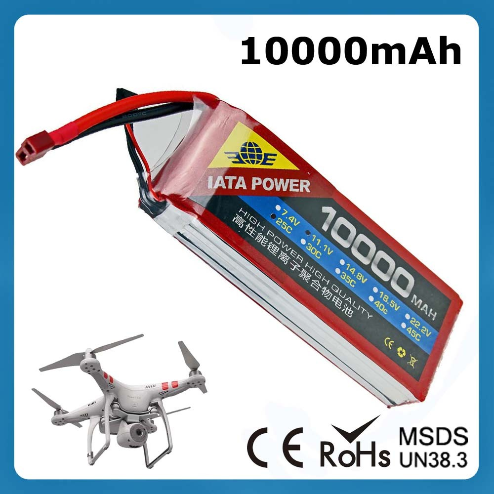 10000mAh 3S Rechargeable Drone Lipo 12V Li Polymer Battery Pack