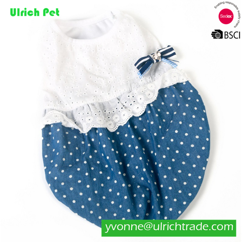 Hot Sell Summer Pet Clothes Wholesale Factory Dog Dress pretty dogs lovely dresses