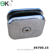 Stainless steel cast iron saddle adjustable glass clamp for pool fence