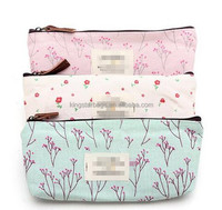korean popular cosmetic makeup bag countryside flower fabric bags