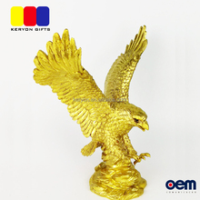 Polyresin Super High Quality Gold Eagle Figurine